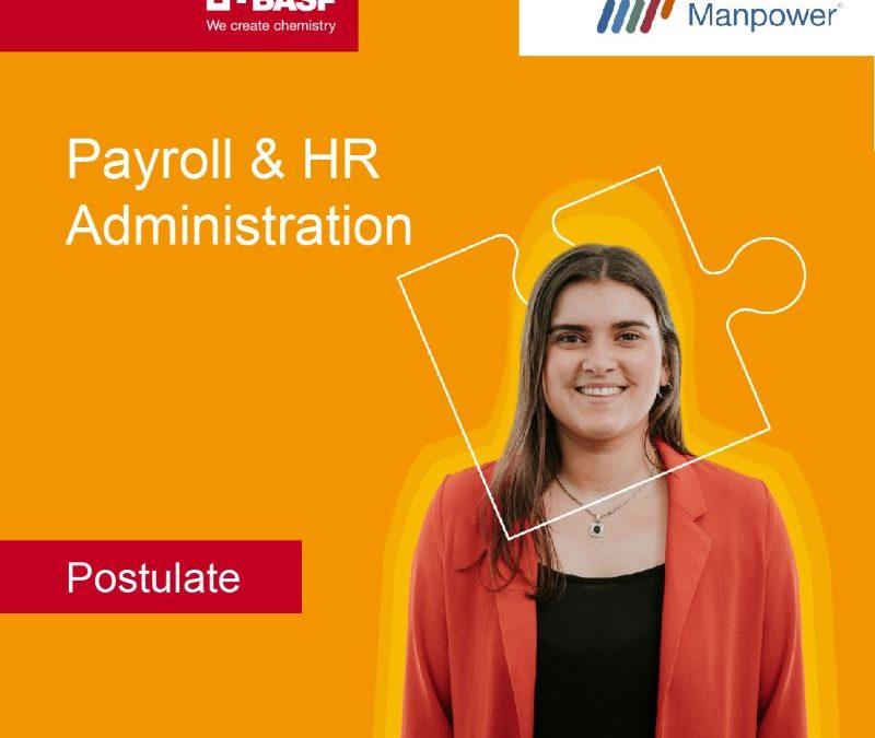Manpower busca Payroll & HR Administration
